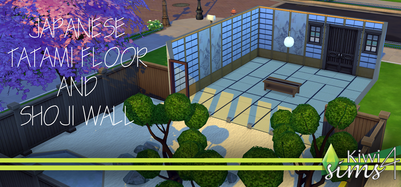 Japanese floors and walls at Kiwi Sims 4
