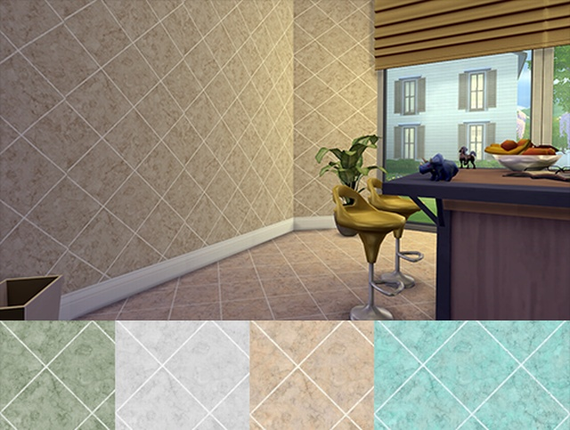 Diamond Wall & Floor Tiles by HoneySims