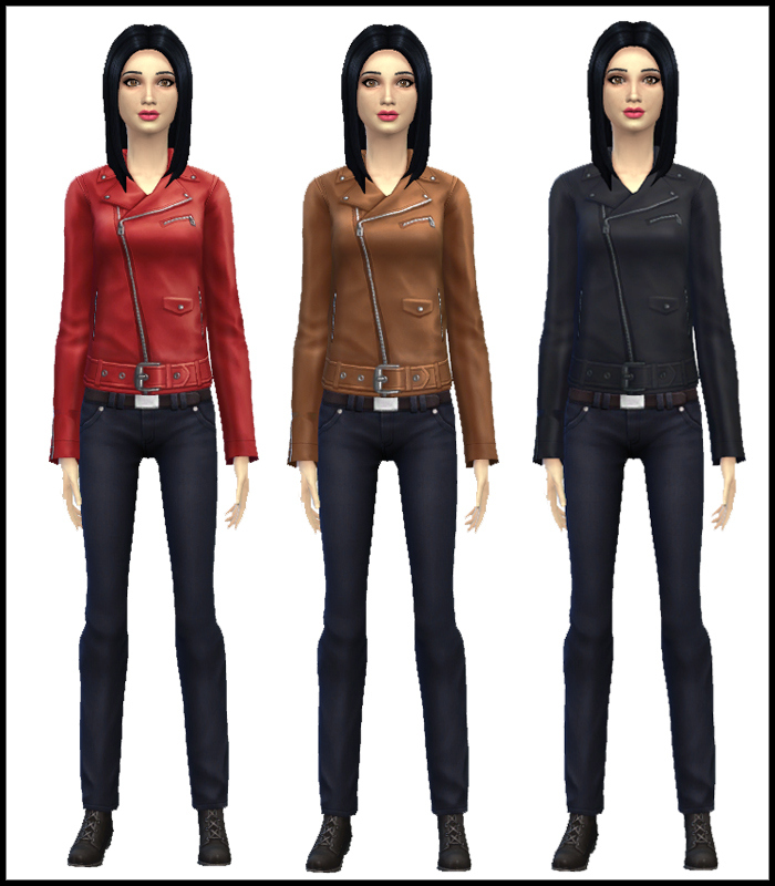 Unlocked Leather Jacket for Teen - Elder Females by Mr S