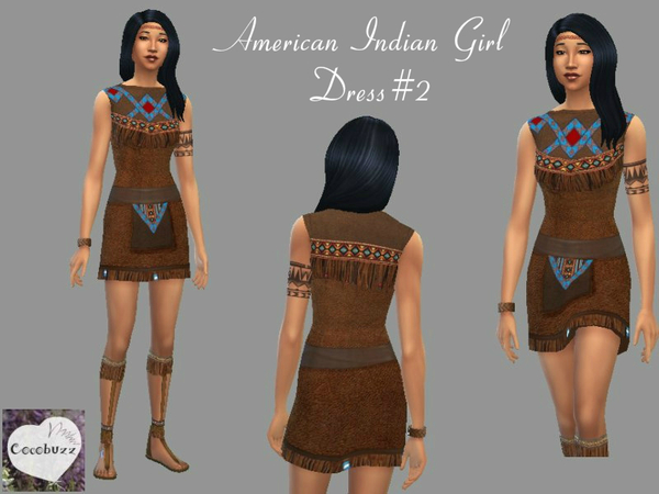American Indian Girl Dress V2 by Cocobuzz