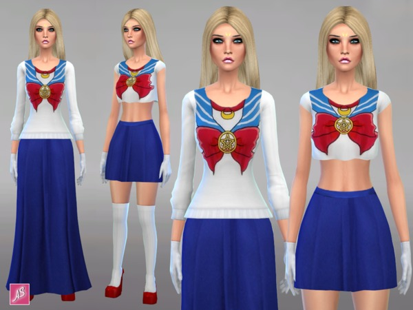 Sailor Moon Clothing Set by Alexandra_Sine