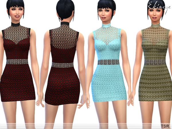 Sleeveless Crochet Dress by ekinege