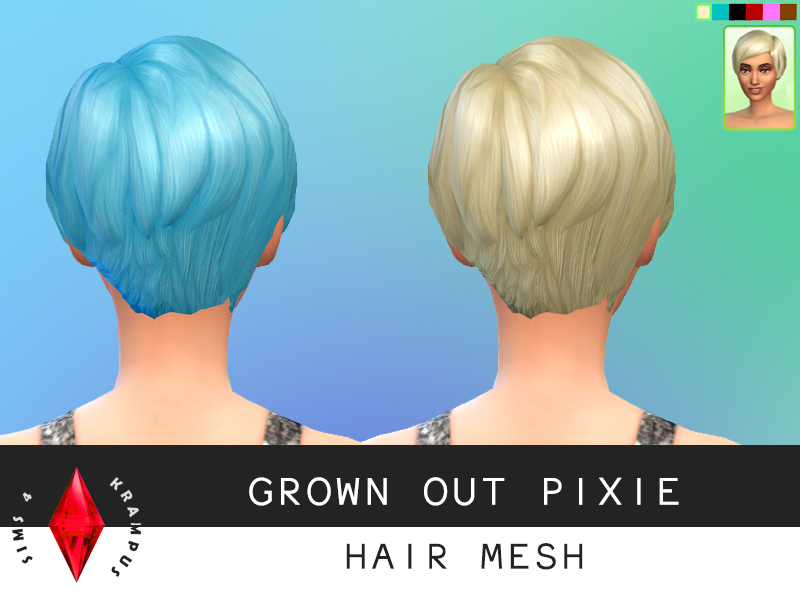 Grown Out Pixie Hair for Females by Sims4Krampus