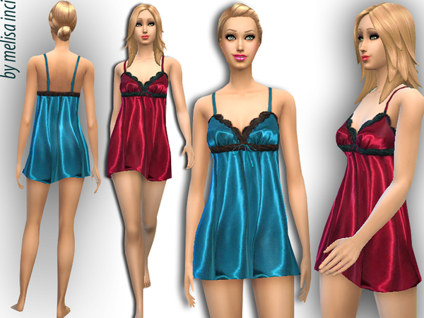 Side Ruched Satin Nightwear by melisa inci