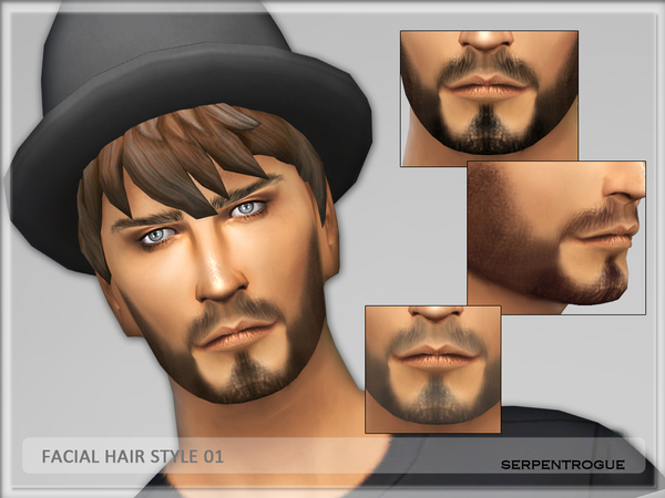 Facial Hair style 01 by Serpentrogue