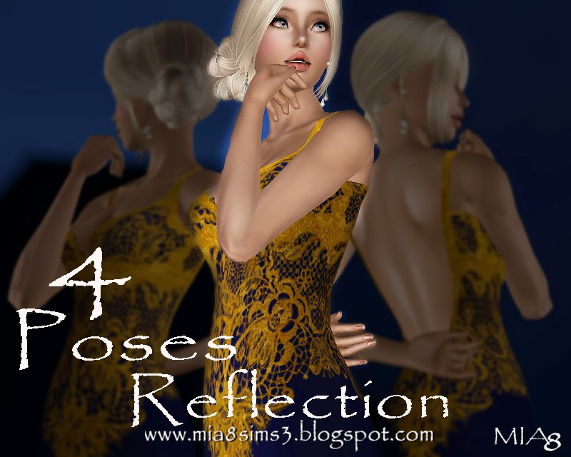 4 Poses Reflection by Mia8