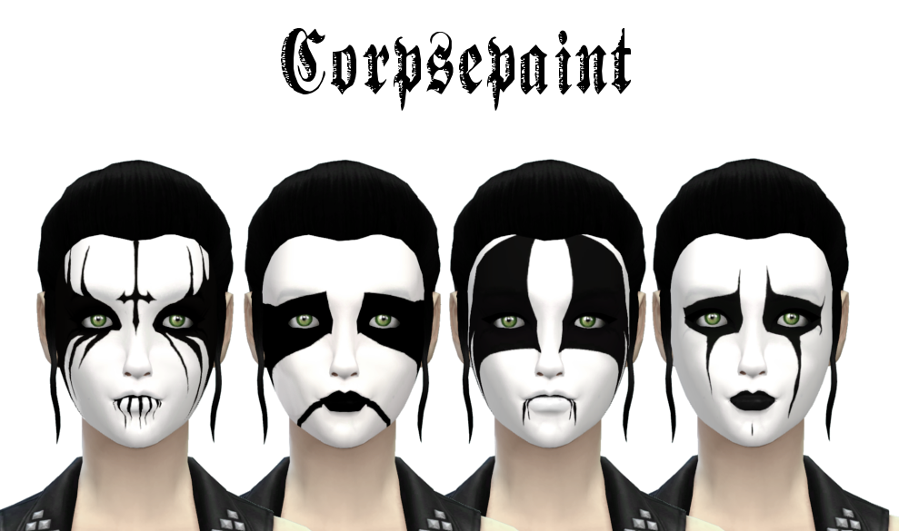 Black Metal Corpse Paint by Ladyhayny