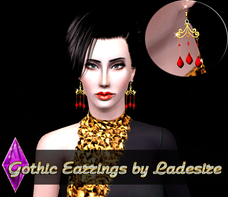 Gothic Earrings by Ladesire
