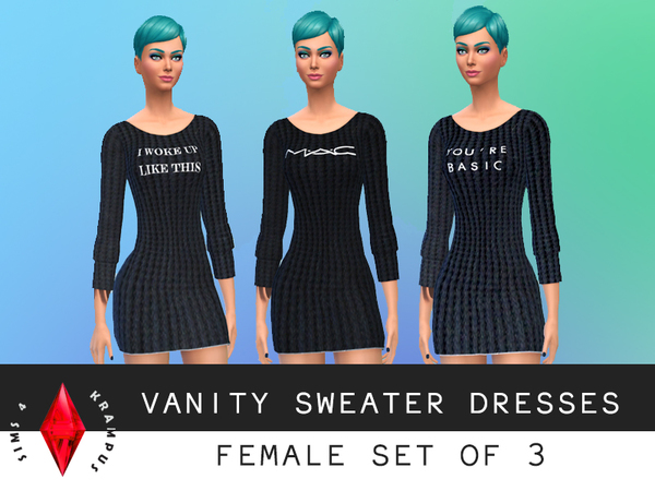 Set of 3 Vanity Sweater Dresses by SIms4Krampus