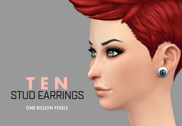 10 Stud Earrings for Females by NewOne