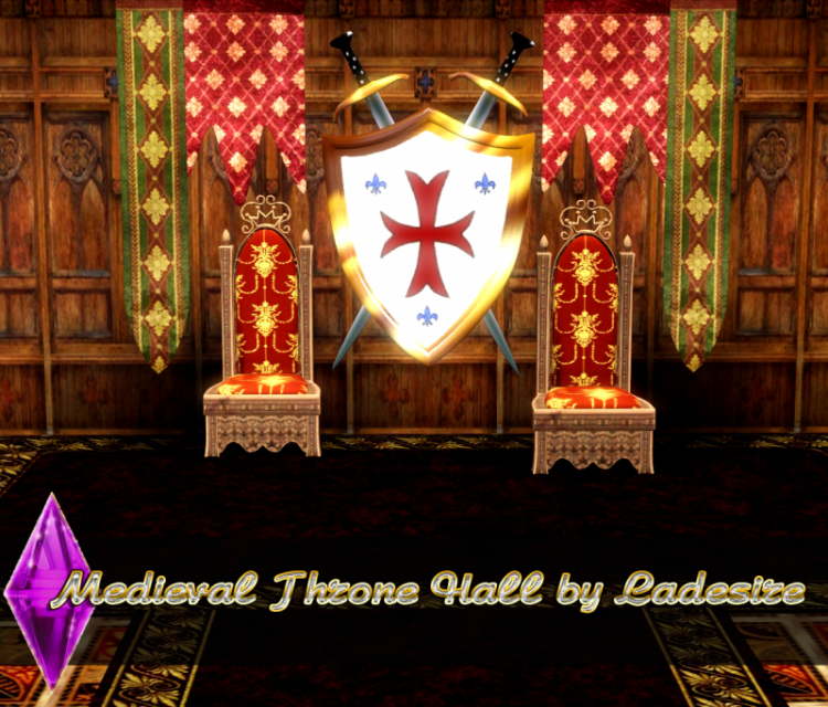 Medieval Throne Hall by Ladesire