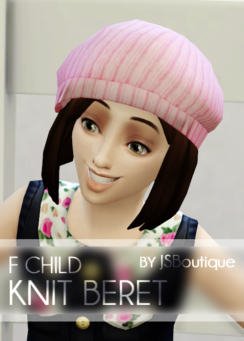Knit Beret and Cat Beanies for little gals at JSBoutique
