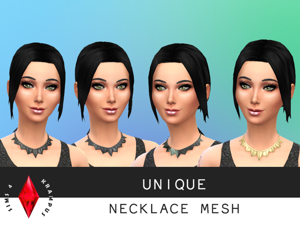Unique Necklace Mesh by SIms4Krampus