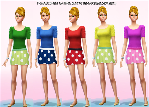 Short Gather Blouse Recolours by JulieJ