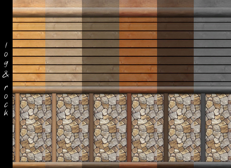 Log Cabin Interior Wall Set - 18 Colors by mustluvcatz