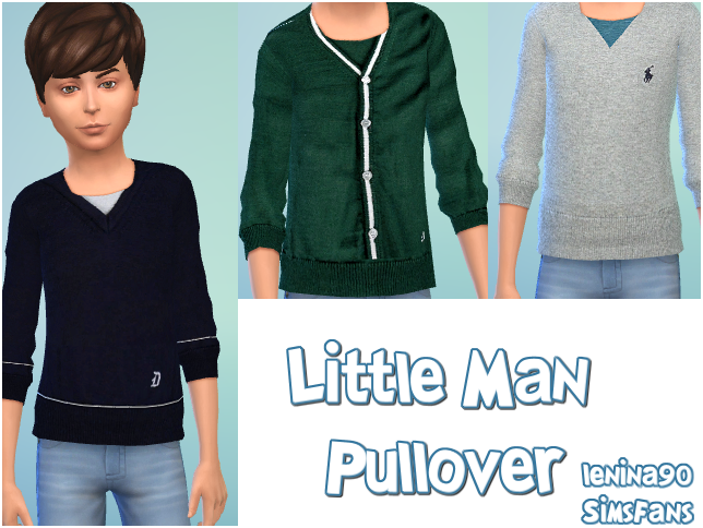 Little Man Pullover by lenina_90 at Sims Fans