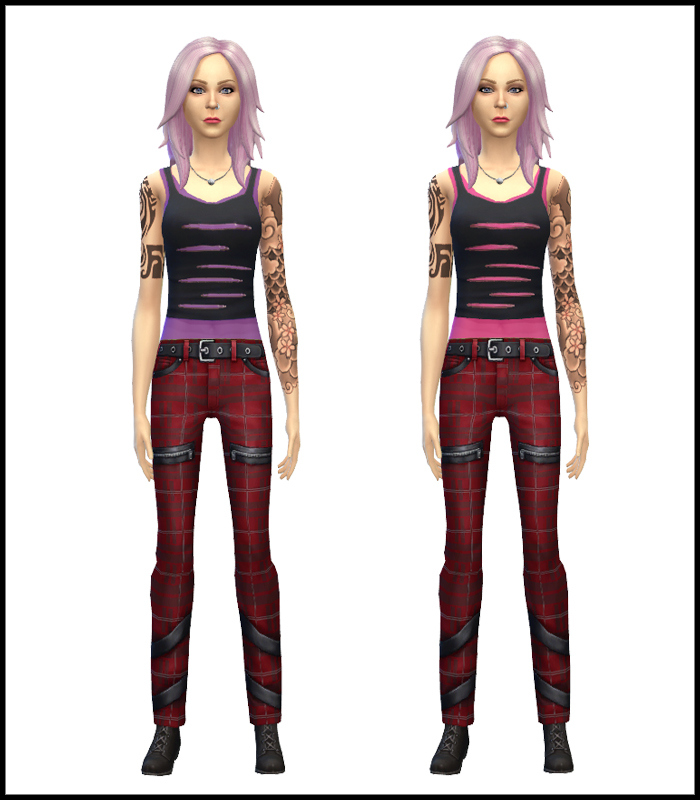 Punk Style Outfit for Teen - Elder Females by Mr S