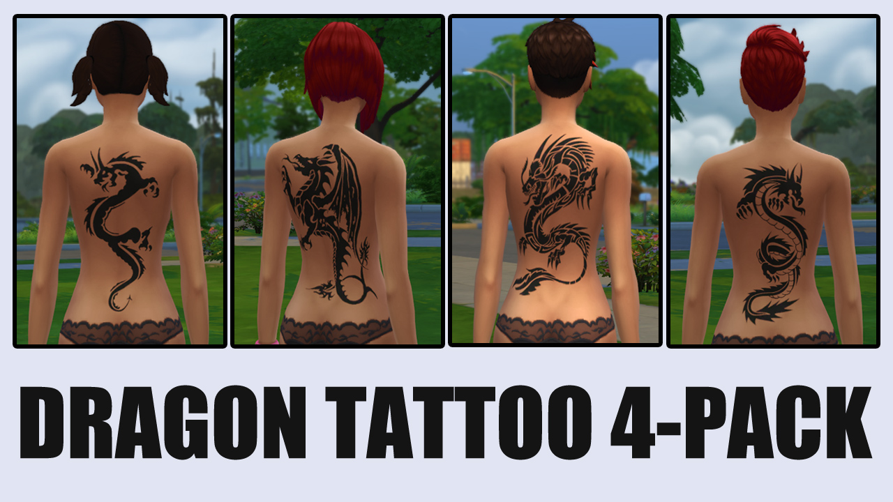 Dragon Tattoo 4-Pack by ironleo78