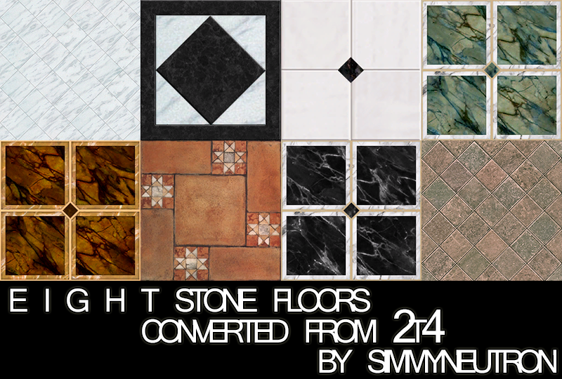 TS2 to TS4 - 8 Stone Floor Conversions by Simmyneutron