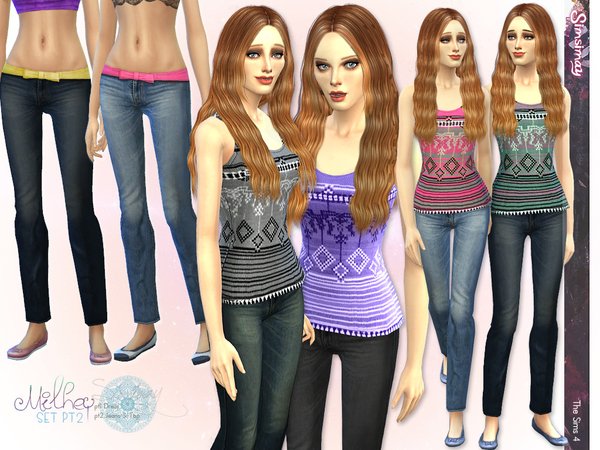 Milhey Pt2 Tank Top & Jeans by Simsimay