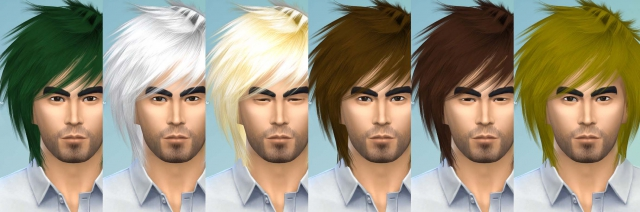 Hair Sims4 Convert-raonjena3-mhair36 by Eodsy