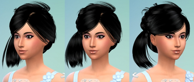 Hair Sims4 Convert-sims3 hair peggyzone-special0022 by Eodsy