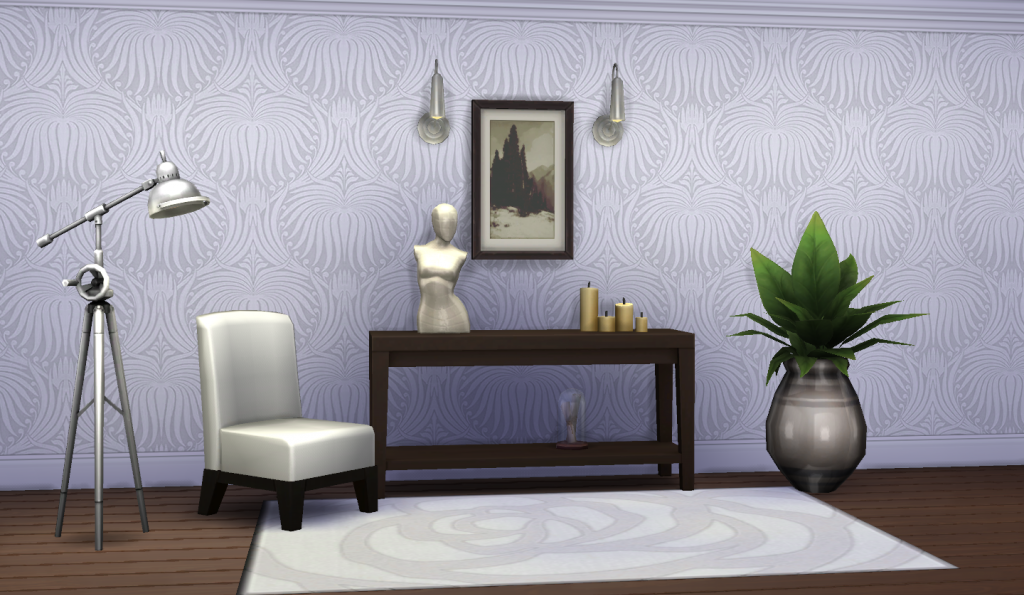 Classic Walls For TS4 - Lotus Wallpaper by Peacemaker IC