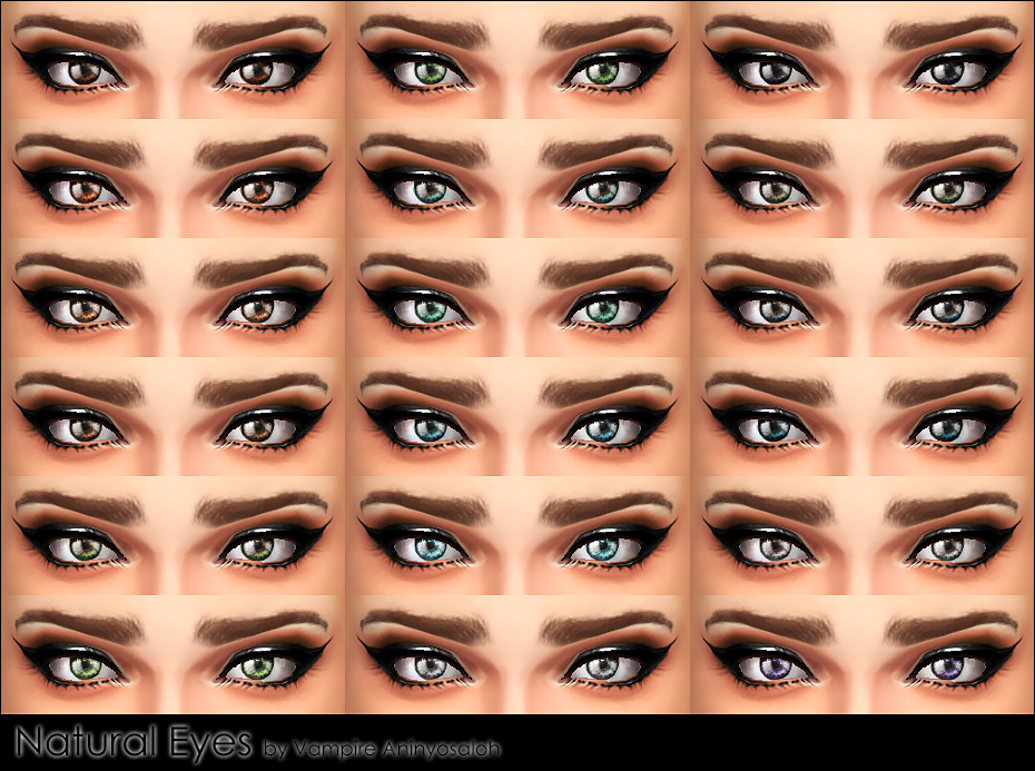 Natural Eyes -default+non-default- by Vampire_aninyosaloh