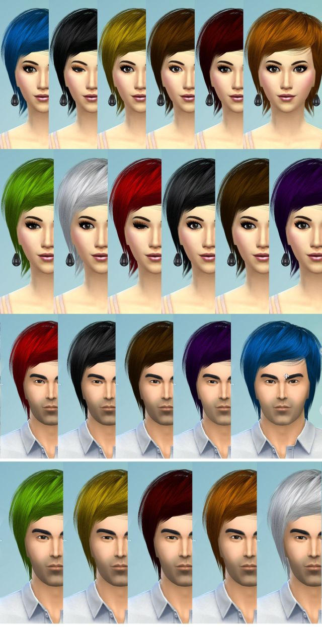 Hair Sims4 Convert-raonjena3-mhair11 by Eodsy
