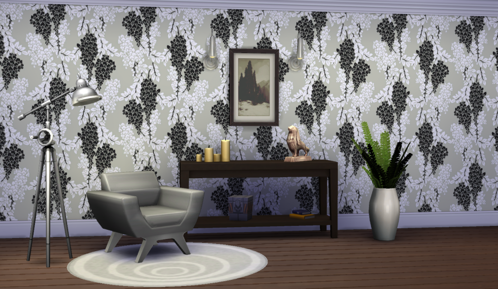 Classic Walls For TS4 - Wisteria Wallpaper by Peacemaker IC