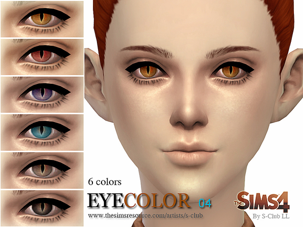 S-Club LL thesims4 eyecolors nondefault replacement 04
