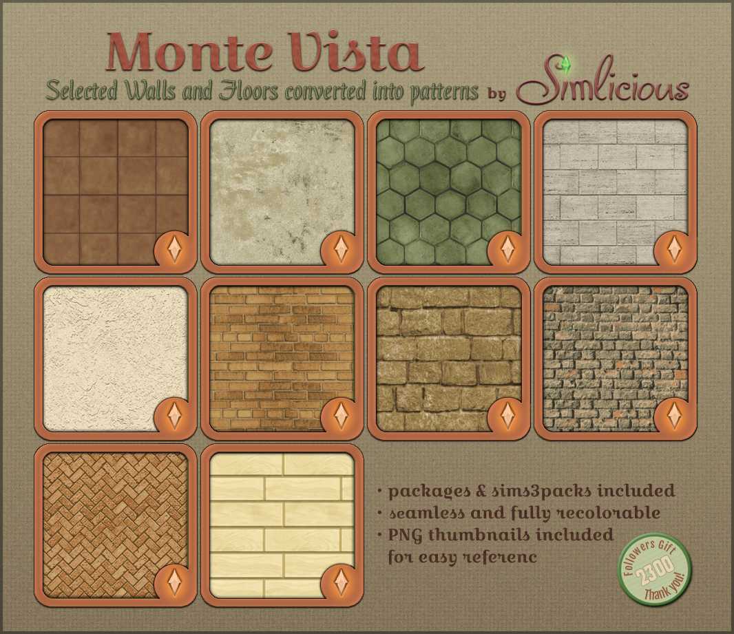 Pattern Collection Monte Vista by Simlicious