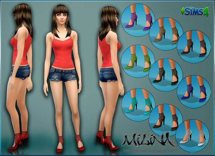 Pumps with Mesh by Milina