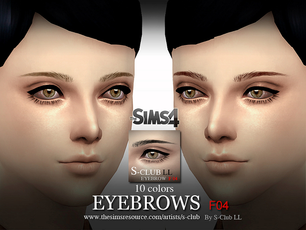 S-Club LL thesims4 Eyebrows F04