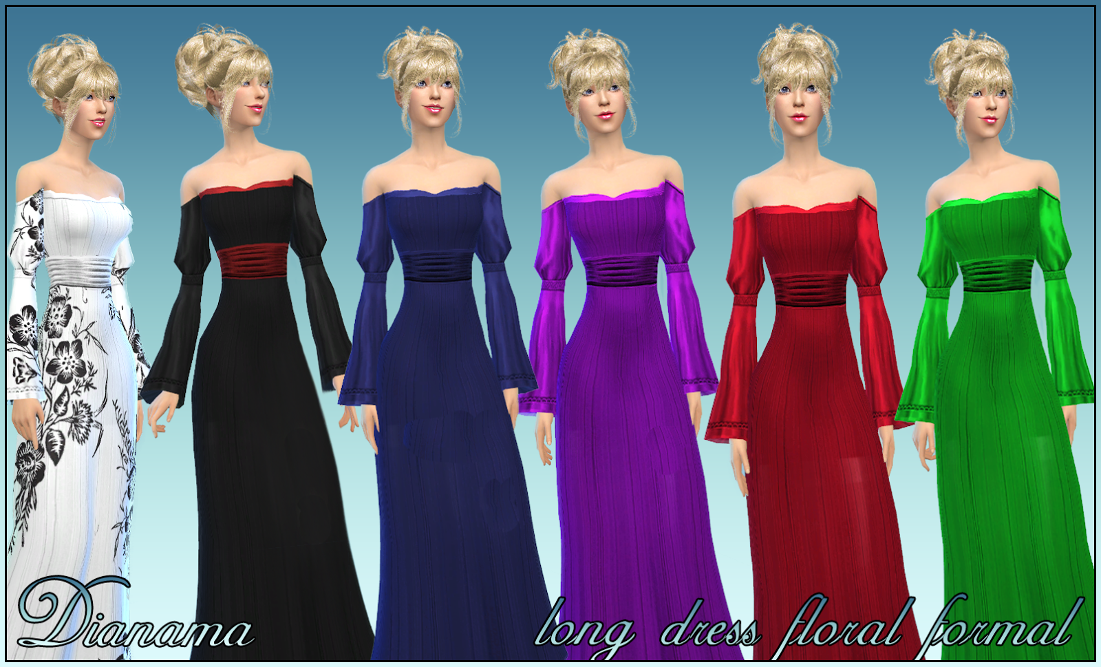 Floral Formal Gown by Dianama