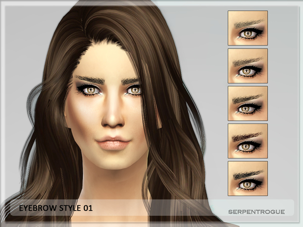Eyebrow Style 01-female by Serpentrogue