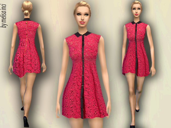 Peter Pan Collar Lace Dress by melisa inci