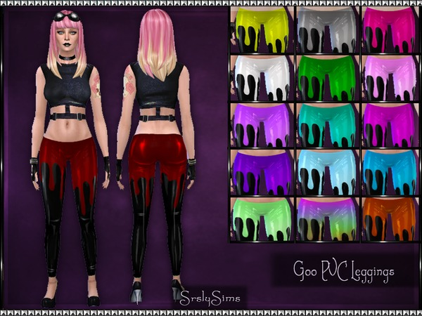 Goo PVC Leggings by SrslySims