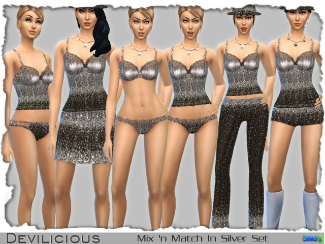 Mix'N Match In Silver Set by Devilicious