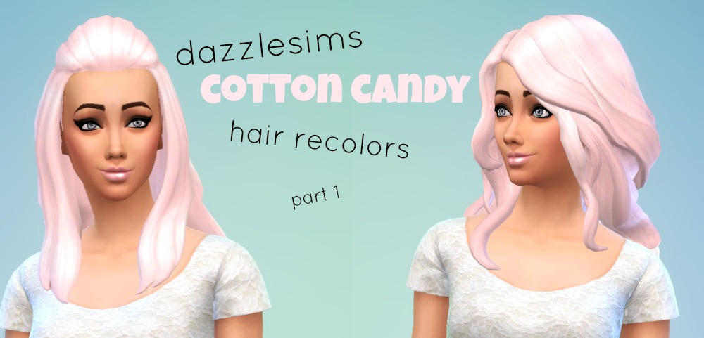 Cotton Candy Hair Recolors by DazzleSims