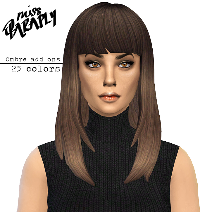 Long Straight Hair Ombre Recolors by MissParaply