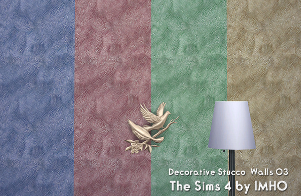 Decorative Stucco Walls 03 The Sims 4 by IMHO