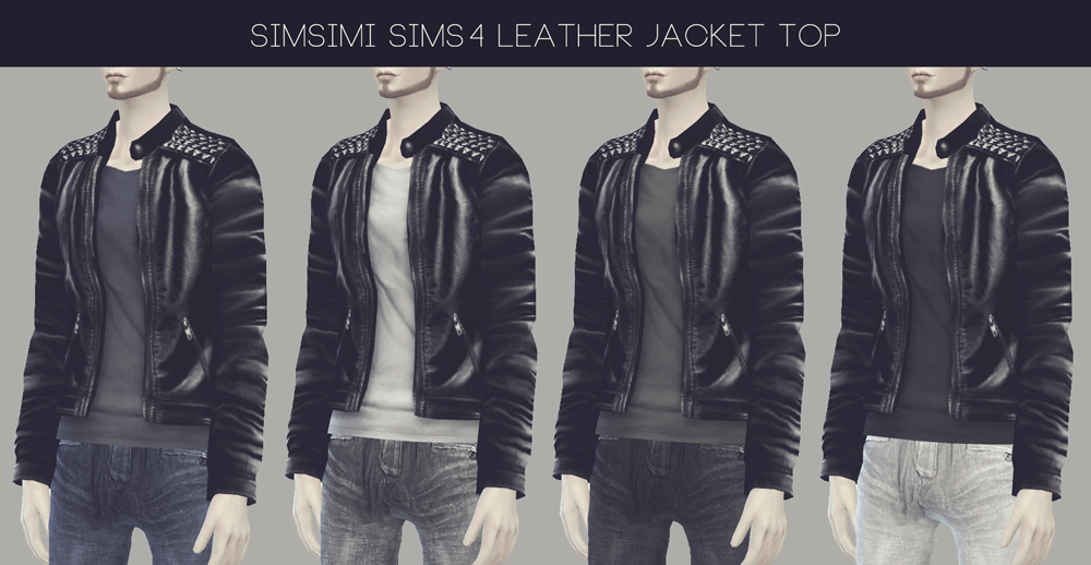 LEATHER JACKET TOP BY SIMSIMI