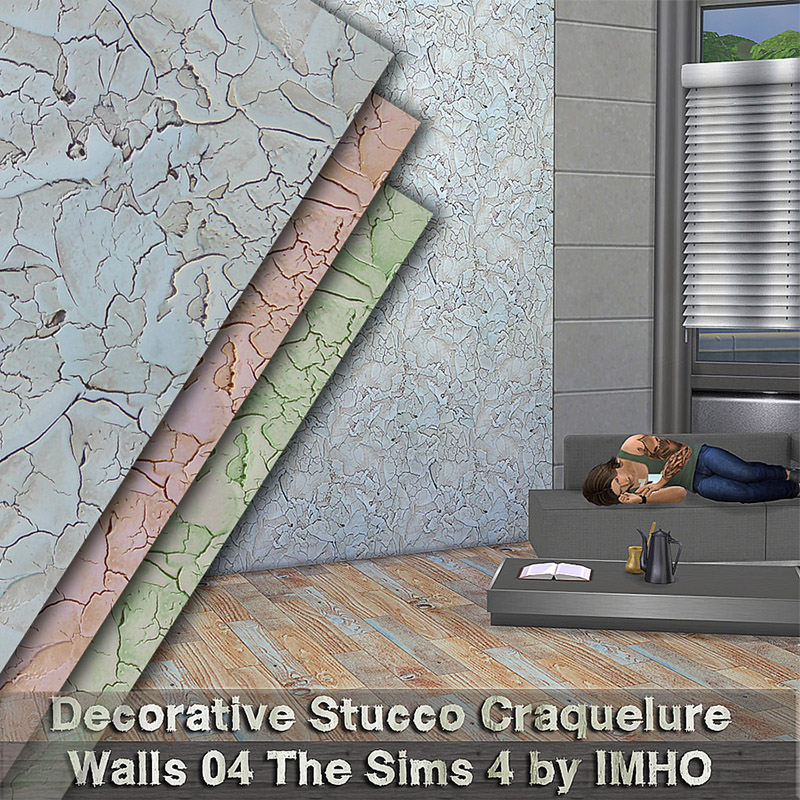 Decorative Stucco Craquelure Walls 04 by IMHO