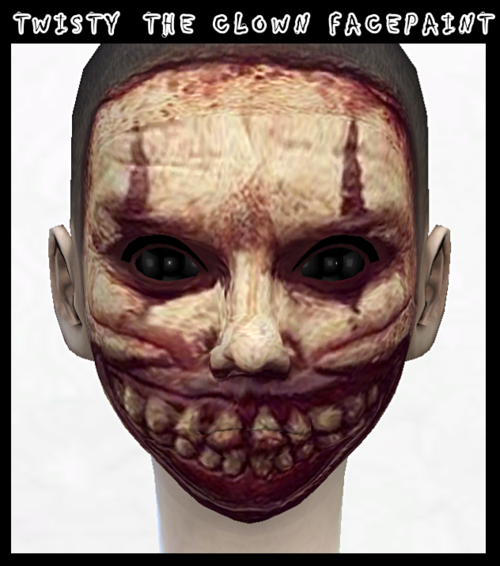 Twisty the Clown Face Paint by DecayClownSims