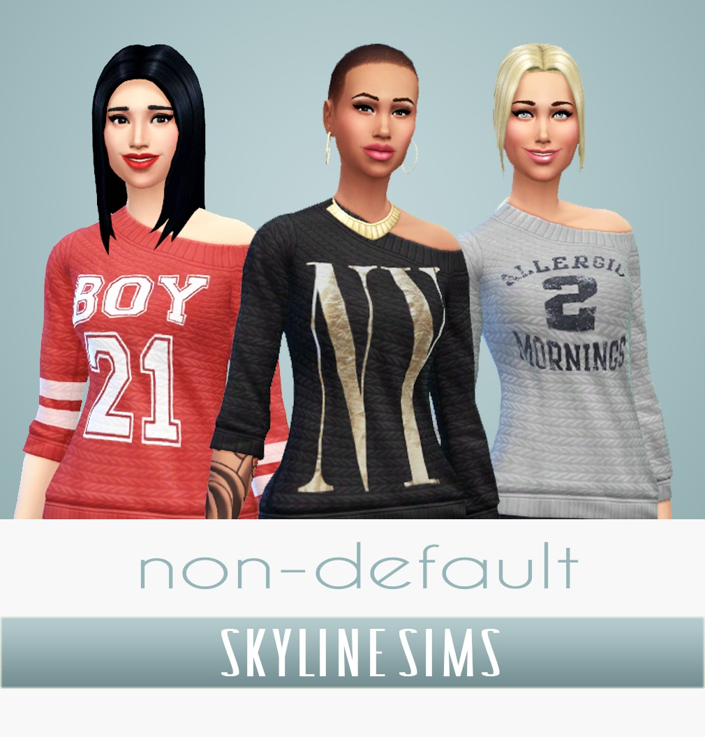 Non Default Sweaters by Skylinesims