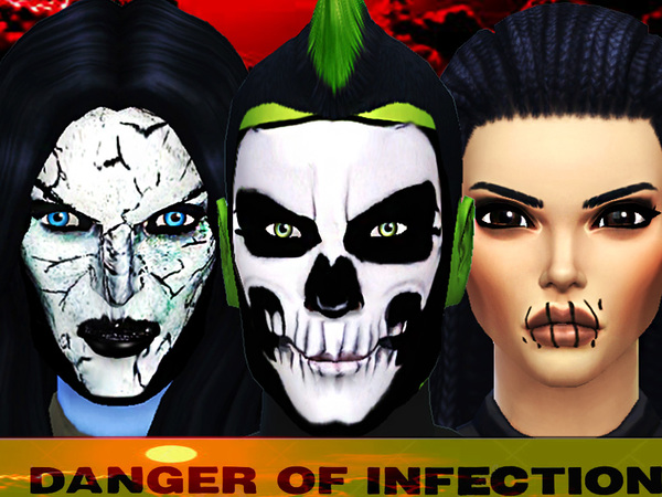 Danger of infection face paint by Pinkzombiecupcakes