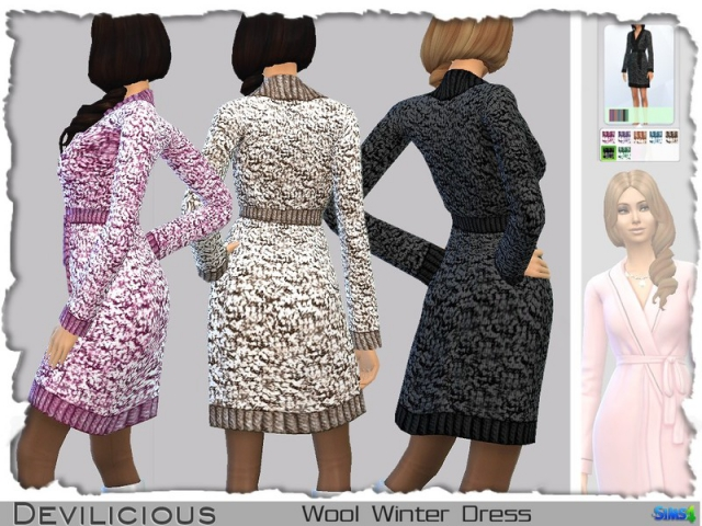 Wool Winter Dress by Devilicious