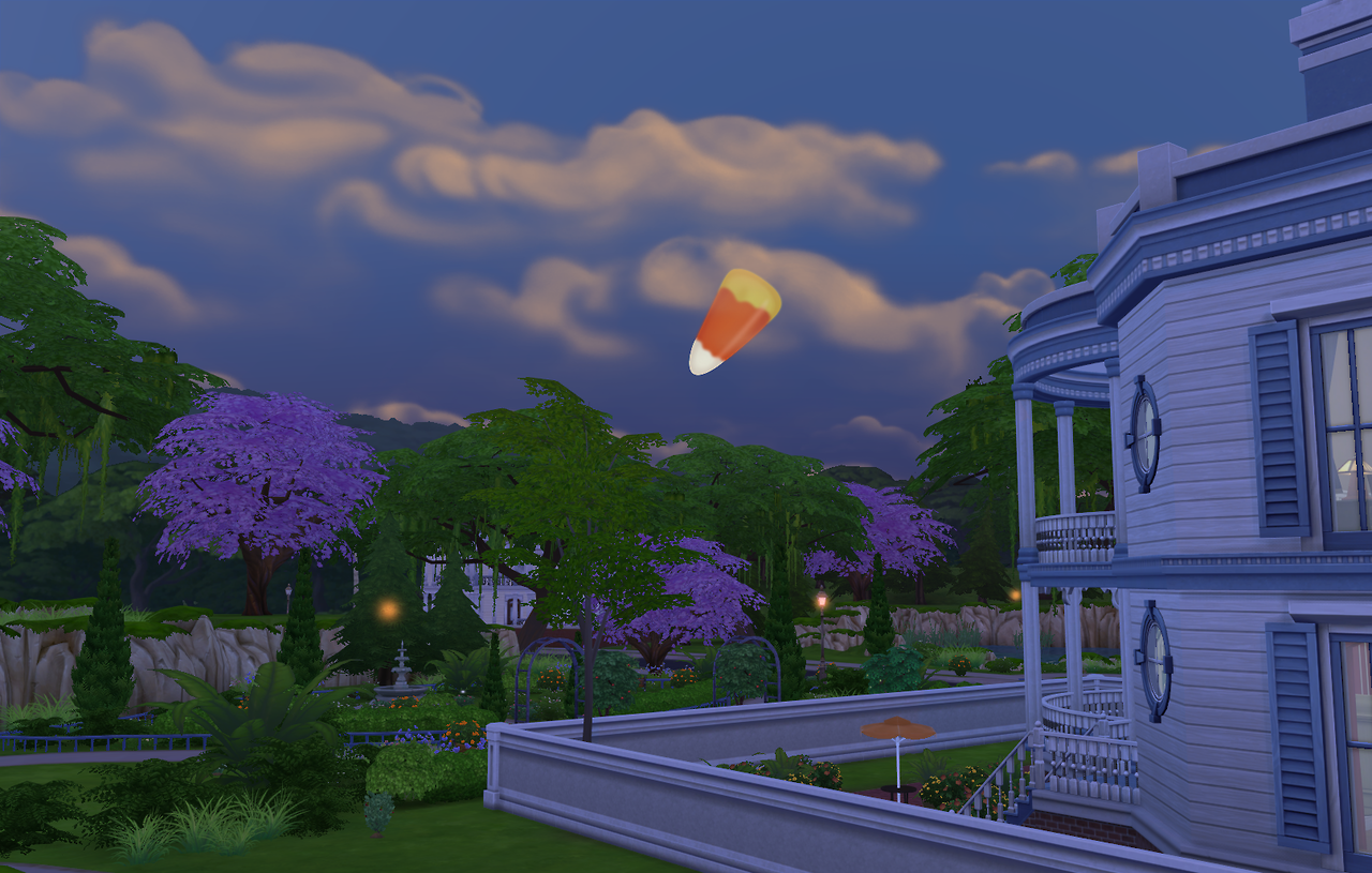 Sims 4 Halloween Novelty moons by Margaret Pendragon