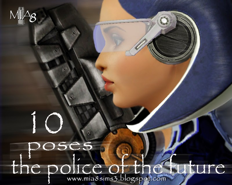 10 Poses the police of the future by Mia8